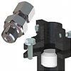 Compression fittings and mounting brackets